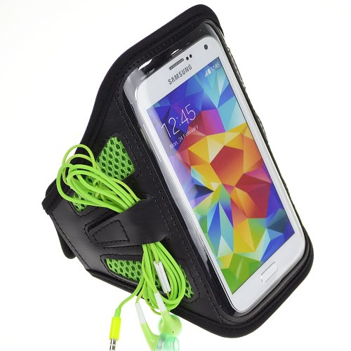 Sumaclife Workouts Jogging Cycling Armband Case For Samsung Galaxy S5 / Note 4 , Note 2 , Note Edge / Lg G3 G2 / Iphone 6 / Sony Xperia Z3 (Green Mesh)