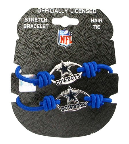 NFL Dallas Cowboys Stretch Bracelet/Hair Tie Set at Amazon.com