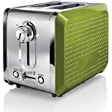 BELLA 13743 Dots Collection 2-Slice Toaster, Green