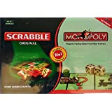 Stuff Jam Scrabble And Monopoly (2 In 1) Board Games For 2 - 4 Players
