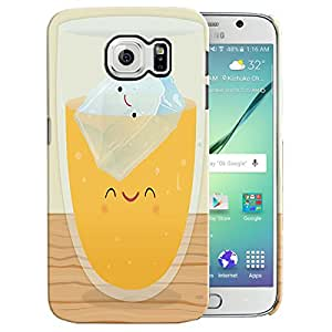 Theskinmantra Ice tea back cover for Samsung Galaxy S6