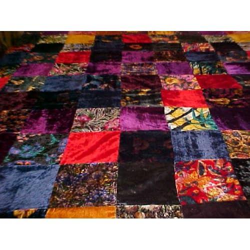 Review Multi Colored Velvet Patchwork Duvet/ Comforter Cover
