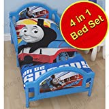 Thomas and Friends Wheesh 4 in 1 Junior Panel Bed Set (Duvet + Pillow + Covers)