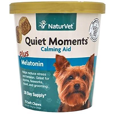 NaturVet 79903695 Quiet Moments Plus Melatonin 70 Count Soft Chew