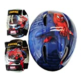 Spiderman Child Helmet and Pads Combo Pack Combo ~ Spider-Man