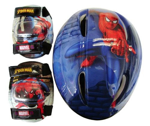 Spiderman Child Helmet and Pads Combo Pack Combo