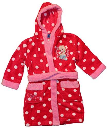 Disney Frozen ragazza Frozen accappatoio-Vestaglia con Cappuccio in vari colori e taglie Rot 9 anni