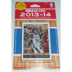 San Antonio Spurs Brand New 2013 2014 Hoops Basketball Factory Sealed 10 Card NBA...