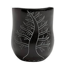 Bold Black Stone \'Palewa Arrival Candleholder Lg\'