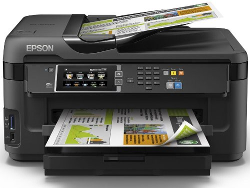 Epson WorkForce WF-7610DWF Stampante Multifunzione a Getto d'Inchiostro, Nero