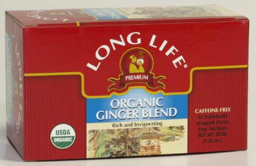 Long Life® Organic Ginger Blend, Tea Bags, 18-Count Boxes (Pack Of 6)