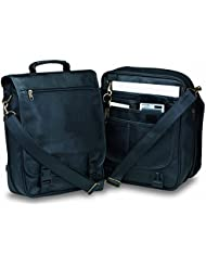 Deluxe Business Briefcase Attache Messenger Bag Backpack, Black By BAGS FOR LESSTM