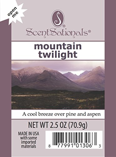 4-Pack Scentsationals Mountain Twilight Fragrance Scented Wax Cubes Melts - For Candle Warmer Or Electric Tart Warmer