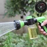 Hot Watering Gun Sprinkler Hose Sprayer 8 Pattern Car Washing Soap Dispenser