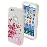 Product B00MP6BLOQ - Product title MYBAT iPhone 6 Verge Hybrid Protector Cover - Retail Packaging - Spring Flowers/Solid White