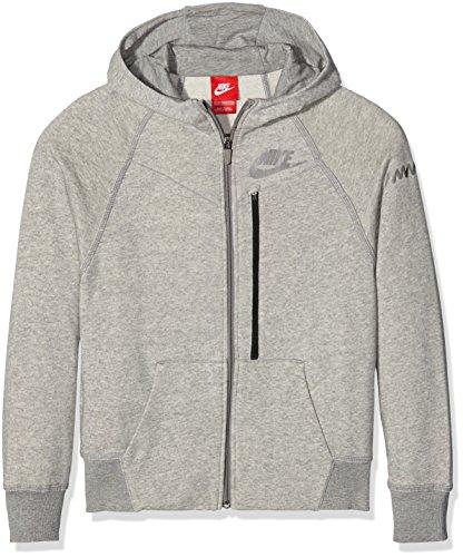 Nike Boy's Run CO-SB-Felpa con cappuccio e Zip completa