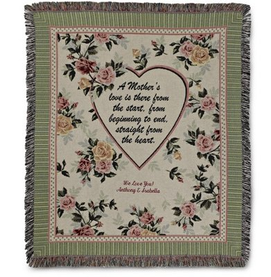 Personalized, Embroidered A Mother'S Love Throw front-911746