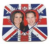 Prince William & Kate Middleton Wedding Commemorative Coaster - Heart Motif on Union Jack.