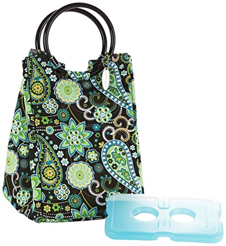 fit-fresh-ladies-retro-insulated-lunch-bag-with-reusable-ice-pack-magnetic-snap-green-paisley-by-fit
