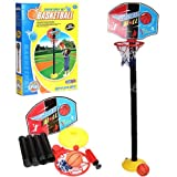 Kids Sports Portable Basketball Hoop Toy Set with Stand Ball & Pump,Toddler Baby