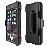 iPhone 6 Case, iPhone 6S Case [HEAVY DUTY] Built-in Screen Protector Tough 4 in1 Rugged Shorkproof Waterproof Cover [With Kickstand] (black)