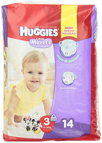 Huggies Little Movers Medium Size 3 Pack of 14 - 1