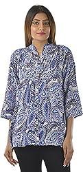 HotShot Women's Polyester V-Neck Tops (RH035, Small)