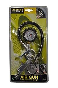 Lifetime Tools 40850 Pistolet de Gonflage avec manomètre pour compresseur