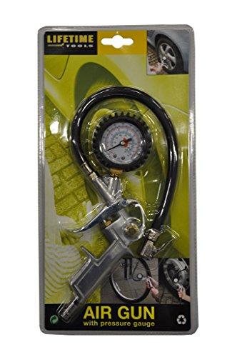 40850 Reifenfüllgerät mit Manometer für Kompressor
