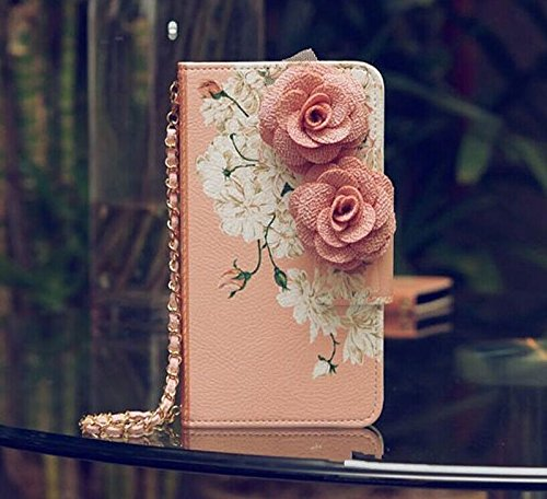Handbag 3D Rose FLOWER Beautiful Cute Camellia Leather Wallet Card Strap Case Cover For LG L90 LG Optimus Exceed 2 W7 Phone D410 D405 D415 (Cell Phone Cases Lg Optimus L90 compare prices)