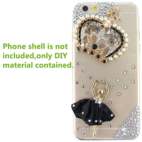 KAKA(TM) 3D Bling Pearls Diamond DIY Material for iPod Touch 2 3 4 5,Apple iPhone 3 3G 3S 4 4S 5 5C 5S 6 6 Plus,Samsung Galaxy S6/S6 edge/A7/A5/S4 I9500/S4 Mini/S5 I9600/S3 I9300/S2/Grand 2/Ace2/Note 2 N7100/Note 3 N9000/Note 4 N9100/Mega 6.3 I9200/Mega 5.8 I9152,LG Nexus 5,LG G3/G2/G2 mini/G Flex/G Pro 2/LG F70/LG Optimus G Pro E980 F240 E986 F240k,Nokia Lumia920 928 520 720 1020 1520,Sony Xperia Z L36h/Z1 L39h/Z1S/Z2/E1,Motorola Moto G/X,Blackberry Z10/Z30/Q10,HTC One M7/M4 Mini/X/Max/M8 (Cupid Bow And Feathers)