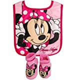Disney Girls 0-12 Months Minnie Mouse Bib and Bootie Set