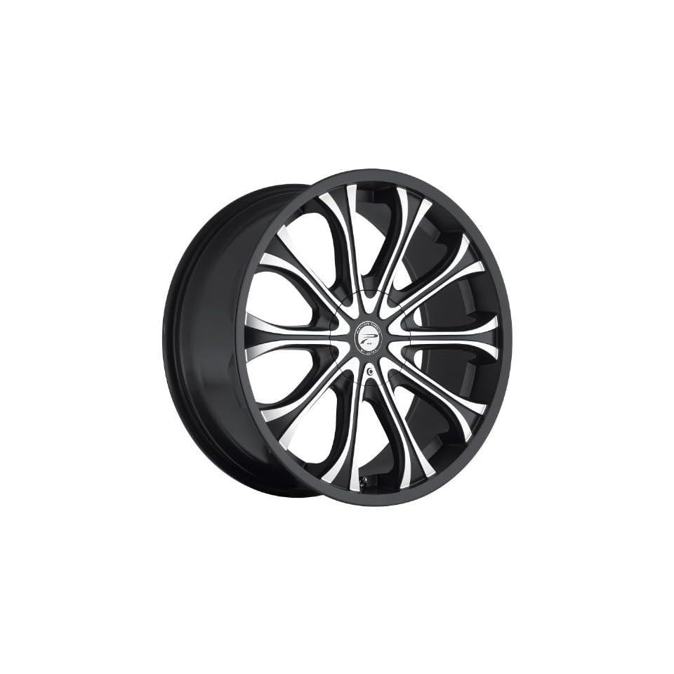 Platinum Mogul 20 Black Wheel / Rim 6x5.5 & 6x135 with a 25mm Offset and a 106 Hub Bore. Partnumber 408 2935B+25 Automotive