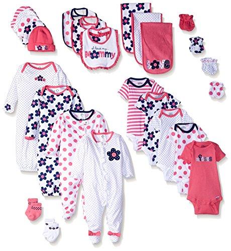 Gerber Baby 26 Piece Essentials Gift Set, Flower, New Born