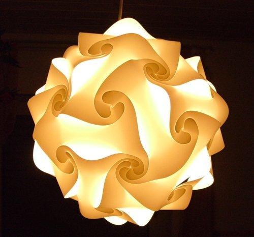 IQ-Puzzle-Lampe-Grsse-L-Set-30-Puzzleteile-ca-35cm-im-Durchmesser