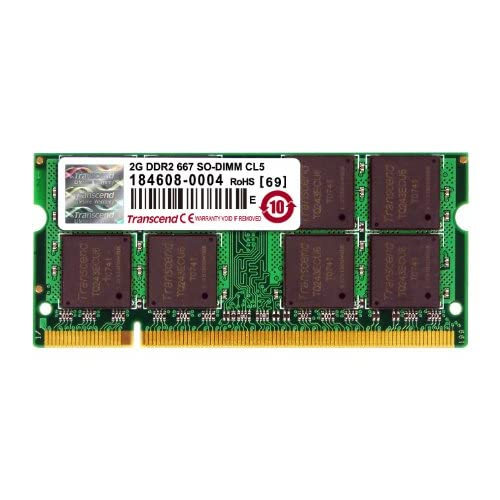 Transcend JetRam ノートPC用増設メモリ PC2-5300(DDR2-667) 2GB 永久保証 JM667QSU-2G