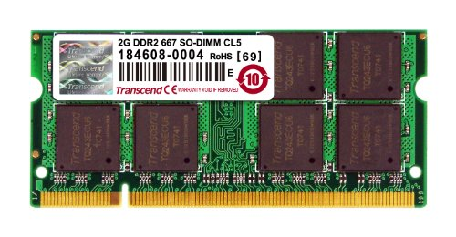 Transcend JM667QSU-2G Ram DDR2 SO-DIMM 200PIN 667Mhz per Notebook 2Gb