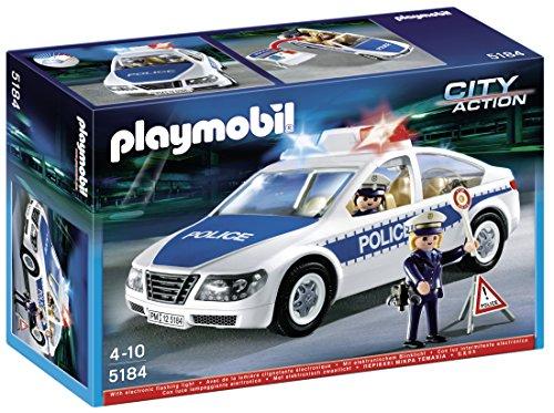 Playmobil - Coche de policía con luces (5184)