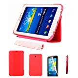 "51hPu5uX5YL. SL160  - BEST BUY #1 HOTSALEUK Samsung Galaxy Tab 3 7.0 7-inch Leather Case Cover and Flip Stand, Bonus: Screen Protector + Stylus Pen (for Galaxy Tab 3 7"" INCH P3200/ P3210, WiFi or 3G+WiFi), by hotasleuk Store®, Seller of Best Selling Galaxy Tab 2 7-inch Case (RED) Reviews and price"