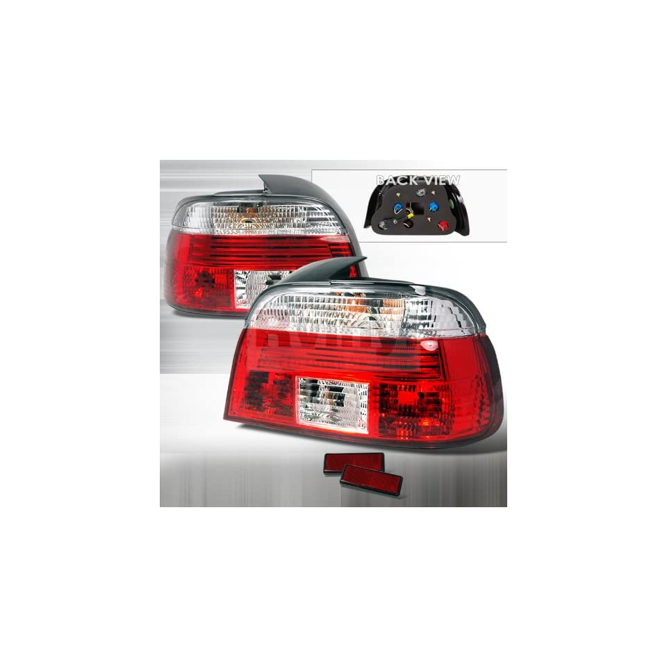 Spec D Tuning LT E394RPW APC Bmw E39 4 Dr 528I 540I 530I 525I Red Clear Lens Tail Lights