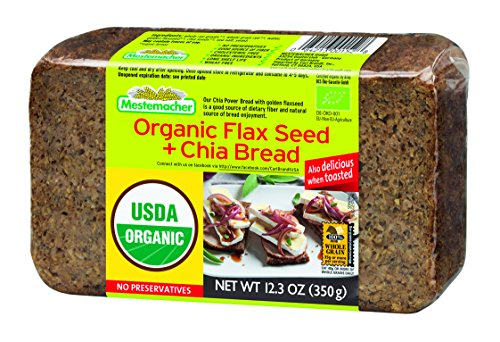 Mestemacher Bread, Organic Flaxseed & Chia, 12.3 Ounce, 9 Count (Mestemacher Rye Bread With Muesli compare prices)