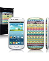 blue peas | silicone/gel vivant pastel aztèque/tribal/rétro coque pochette Samsung Galaxy S4 Mini i9190