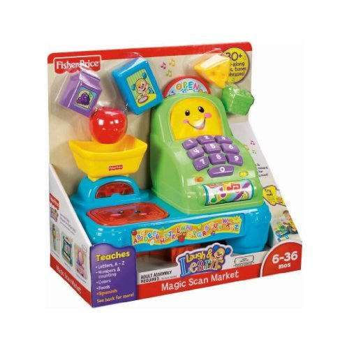Toy / Game Fisher-Price Laugh and Learn Magic Scan Market with 15 sung songs, tunes, and cute sound effects - 1