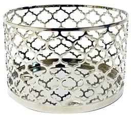 MELT MELT06A-DH Decorative Pillar Holder, Silver