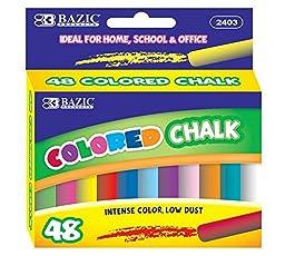 6 Pk, BAZIC Colored Chalk (48 Per Pack)