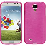 Silikon Hülle für Samsung Galaxy S4 - brushed pink - Cover PhoneNatic Schutzhülle Case