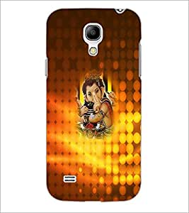 PrintDhaba Lord Ganesha D-3401 Back Case Cover for SAMSUNG GALAXY S4 MINI (Multi-Coloured)
