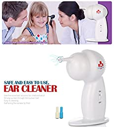Ear Cleaner Wax Remover Pick Removal Cordless Vacuum Easy Painless for Children(g00152978485)