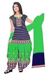 Dharmnandan Fashion Panghat Purple color Cotton Woman's Fancya Dress Material
