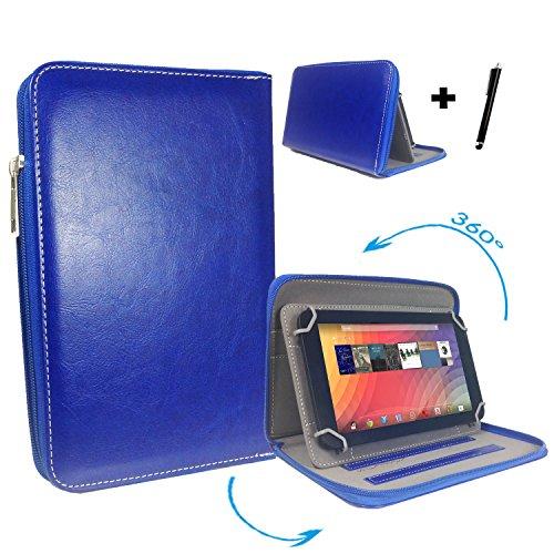 "Huawei MediaPad 10 FHD 3G 25,4 cm / 10.1 "" Tablet Pc Tasche mit 360 grad Drehfunktion - 10 Zoll Blau 360° Reißverschluss"